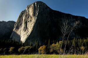 El Capitan aglow in the late afternoon sun at Yosemite National Park,  on Friday May 11, 2012.  Visitors to California national parks may notice more trash on trails, longer lines at service booths and fewer rangers this summer as the pinch of the federal government's budget problems grow increasingly difficult to overlook.