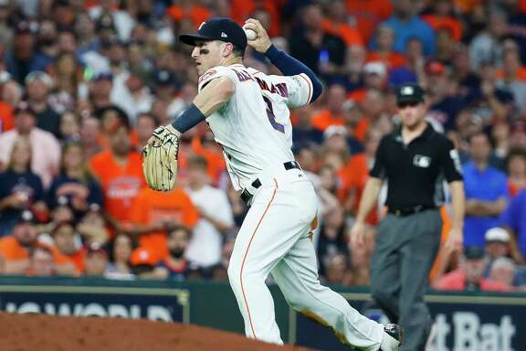 Third baseman Alex Bregman turned one of the biggest defensive plays of the ALCS, throwing out the Yankees' Greg Bird at home plate for a crucial out in Game 7.