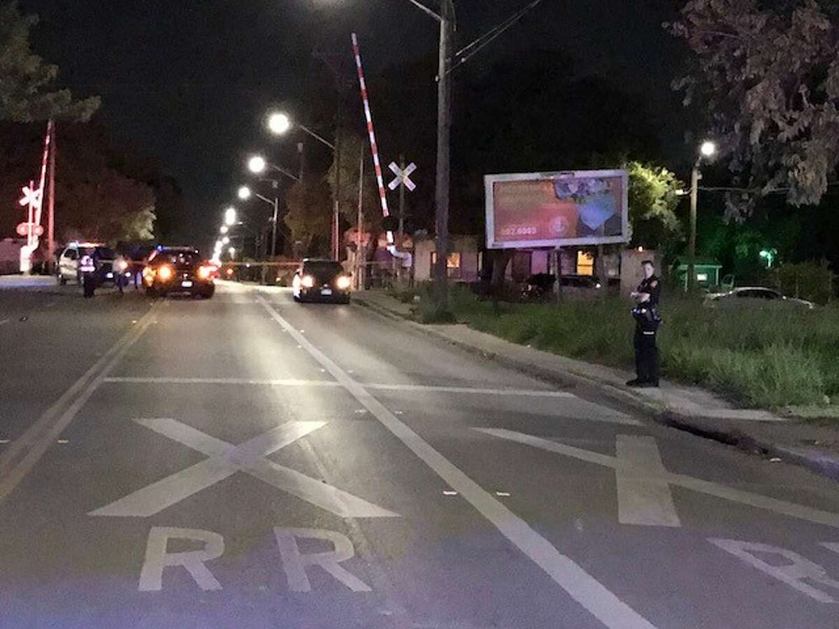 San Antonio police said an 84-year-old man was struck and killed by a vehicle near downtown Sunday night, Oct. 22, 2017.