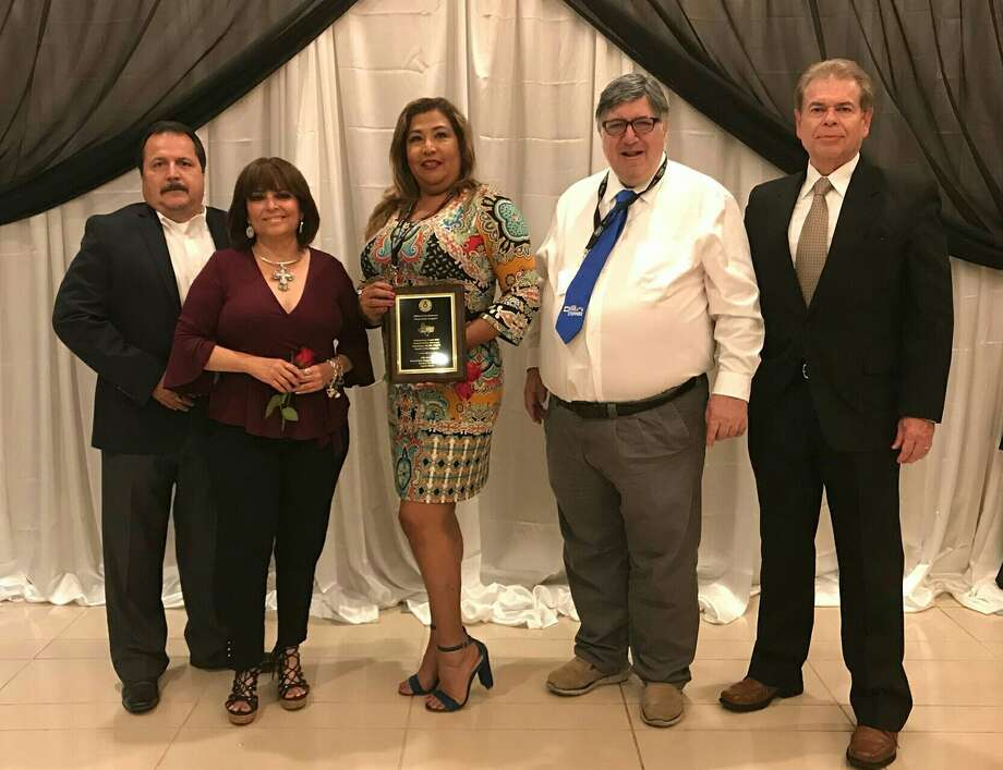 Members of the Laredo Crime Stoppers and Laredo Police Department pose for a photo after garnering the Productivity Award during the 29th Annual Texas Crime Stoppers Conference in Seguin. Photo: Laredo Crime Stoppers/Courtesy