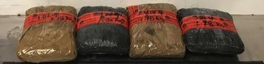 Ten pounds on crystal methamphetamine were discovered in a 2014 Chevrolet Cruz on Oct. 13 by Border Patrol agents, the last in a series of recent busts that took place over the course of three days. Photo: Courtesy