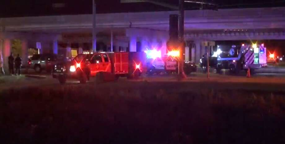 A police officer was injured early Monday during a crash at Aldine Westfield and Beltway 8. (Metro Video) Photo: Metro Video