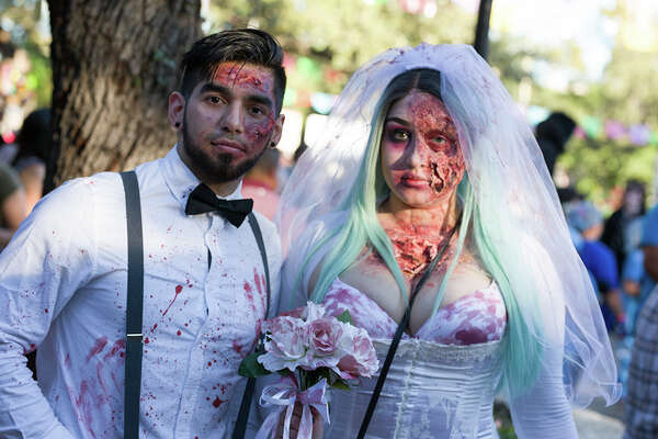 "Maverick Plaza at La Villita looked more like the set of ""The Walking Dead"" on Sunday, October 22, 2017, for the San Antonio Zombie Walk."