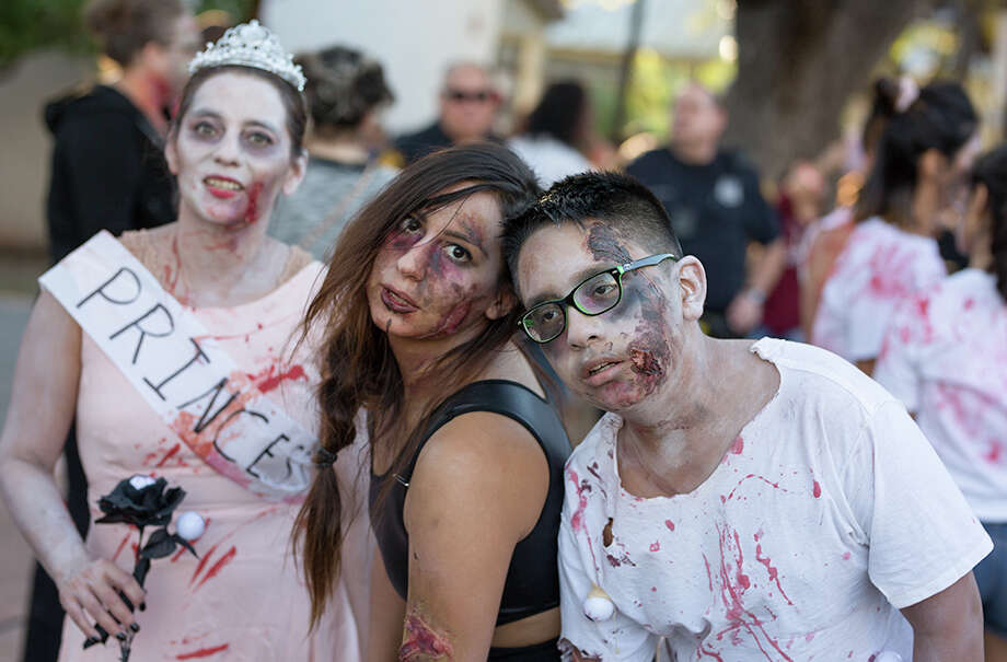 "Maverick Plaza at La Villita looked more like the set of ""The Walking Dead"" on Sunday, October 22, 2017, for the San Antonio Zombie Walk. Photo: B. Kay Richter For MySA.com"