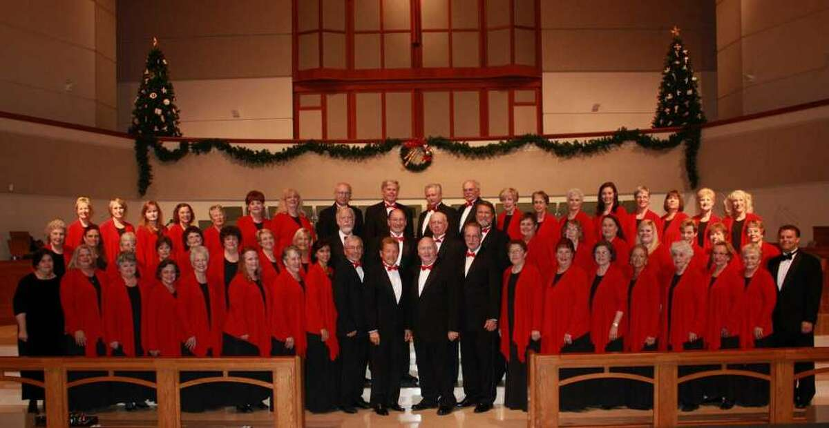 The Montgomery County Choral Society at the group's December 2016 Christmas concert. The group started in the early 1970s and is in its 46th season in 2017-18.