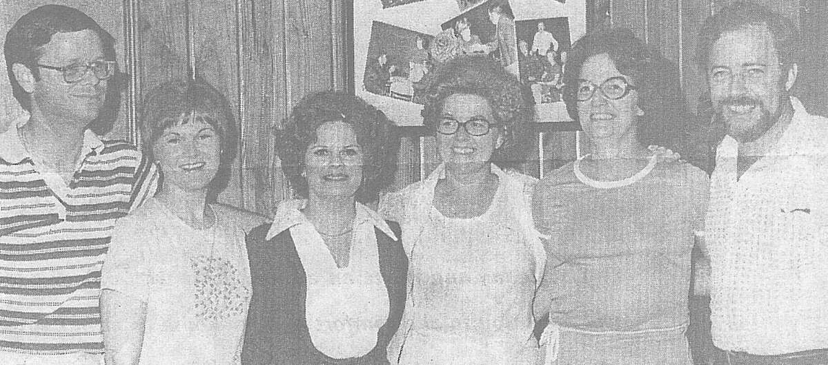 Officers for The Conroe Corale in 1976 were from left Bill Kinnard, Suzanne Steward, Pat Gandy, Jeanne Zuber, Sarah McLean and Don Keeling. The group was under the direction of Kathryn Gutekunst at the time.