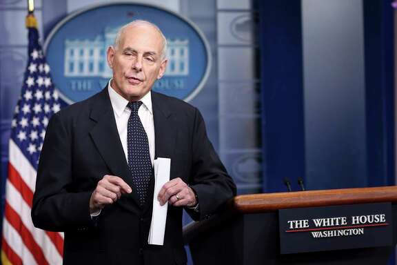 White House Chief of Staff John Kelly speaks to the media during the daily briefing in the Brady Press Briefing Room of the White House on Oct. 19, 2017 in Washington, D.C. (Oliver Contreras/Sipa USA/TNS)