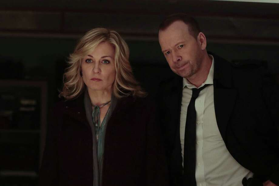 "Fans of ""Blue Bloods"" found out on the Season 8 premiere that Linda Reagan (Amy Carlson), wife of lead character Det. Danny Reagan (Donnie Wahlberg), had died in a helicopter accident. Photo: GIOVANNI RUFINO/CBS, STR / �© 2017 CBS  All Rights Reserved."