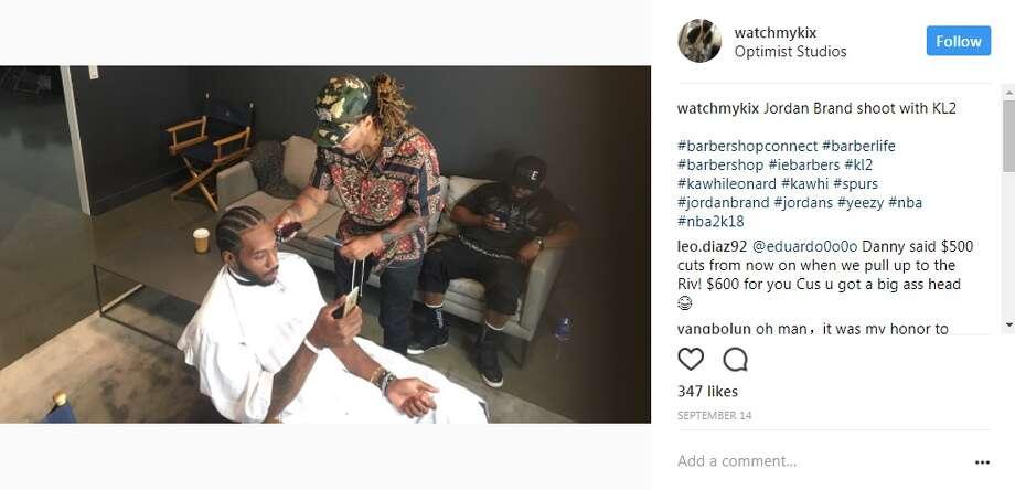 Expensive Habits Barbershop - Riverside, Calif.watchmykix: Jordan Brand shoot with KL2 Photo: Instagram.com