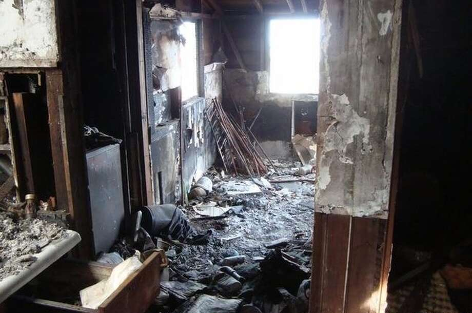 A home destroyed by fire in San Francisco's Bernal Heights neighborhood is on the market for $799,000. The 600-square foot house at 121 Gates was gutted by the blaze in 2016. Photo: Coldwell Banker