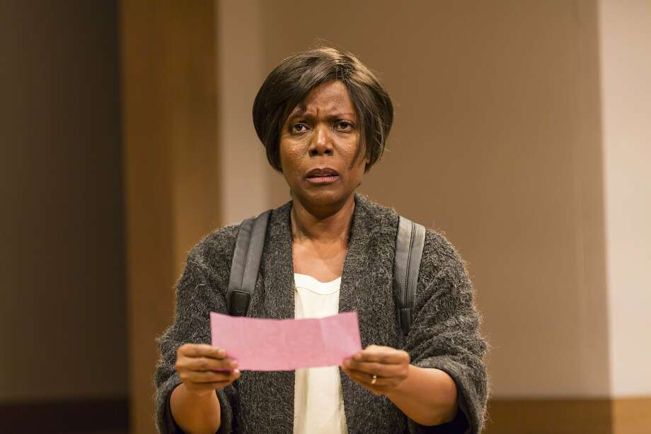 "Cherene Snow as Judy in ""Small Mouth Sounds"" at ACT's Strand Theater. Photo: T. Charles Erickson, American Conservatory Theater"