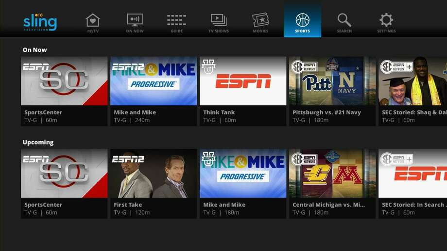 A sample of Sling's streaming sports offerings. Photo: Sling TV