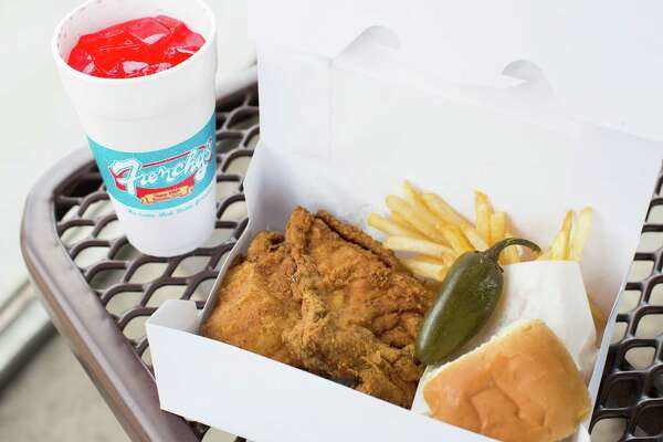 Frenchy's Creole Chicken meal at the original location, 3919 Scott.