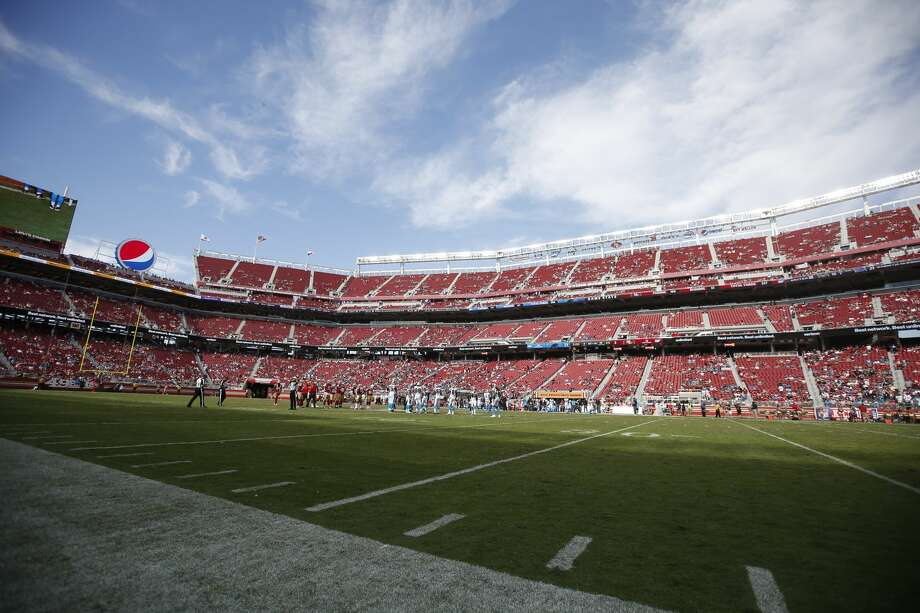 Empty seats, like those seen during this 2017, 49ers-Panthers game are a frequent sight at 49ers games, creating a difficult situation for people who though they were making a season ticket investment that would increase in value over time. Photo: Michael Zagaris/Getty Images