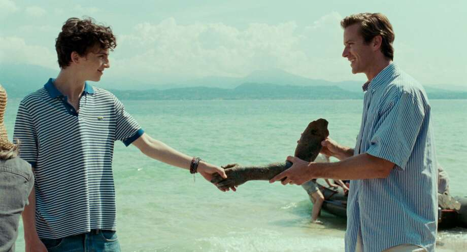"""Armie Hammer, right, and Timothee Chalamet in the film, """"Call Me By Your Name,"""" based on the Andre Aciman novel. Hammer recorded the audiobook. He's one of a number of movie stars narrating audiobooks. In September, audiobooks accounted for 48 percent of the Danbury Library's circulation. Photo: Sony Pictures Classics / Contributed Photo"""