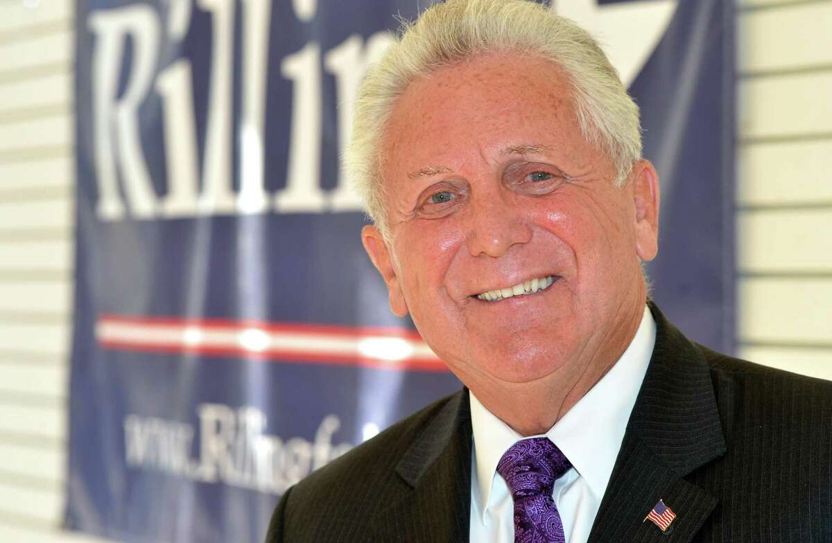 Norwalk Mayor Harry Rilling in his campaign headquarters.