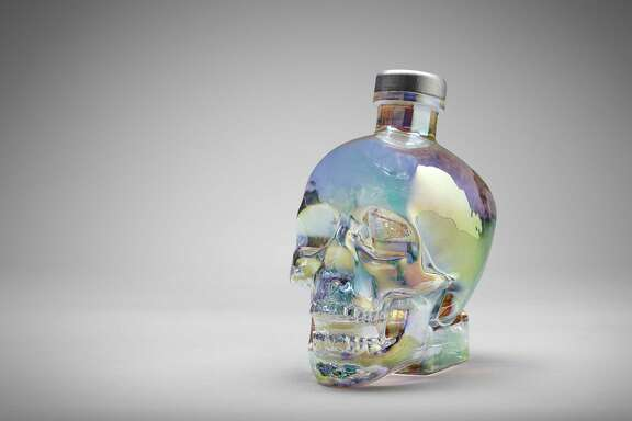 Crystal Head Aurora is a new expression of Crystal Head Vodka housed in a glass skull bottle with iridescent finish.
