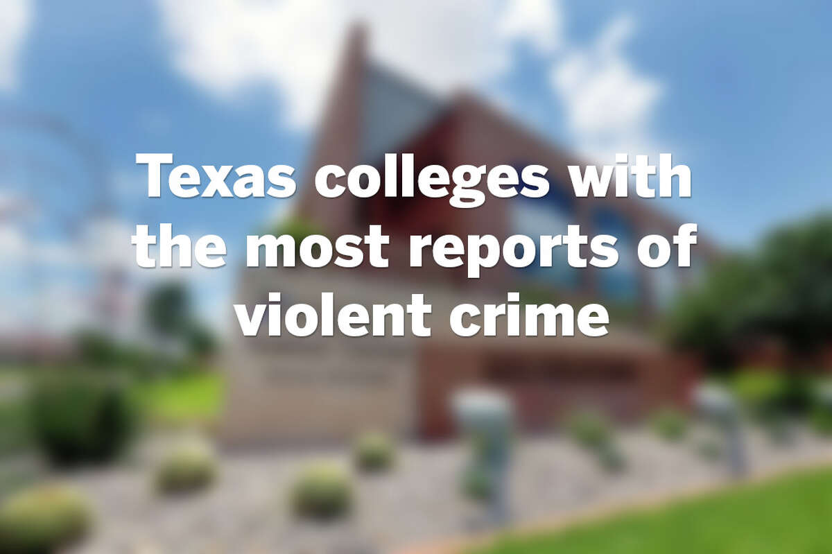 Click through this gallery to see Texas colleges with the most reports of violent crime.