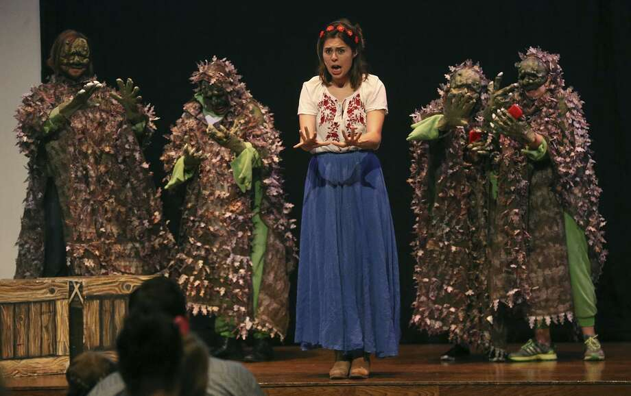 """Students in UTSA Lyric Theatre's Opera on the Run program perform the new piece """"Beautiful Dreamer"""" for an audience of homeschooled children and their parents at the McNay Art Museum. Photo: John Davenport /San Antonio Express-News / ©John Davenport/San Antonio Express-News"""