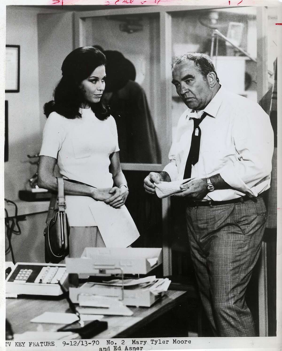 """""""The Mary Tyler Moore Show"""" from 197 starring Mary Tyler Moore and Ed Asner."""