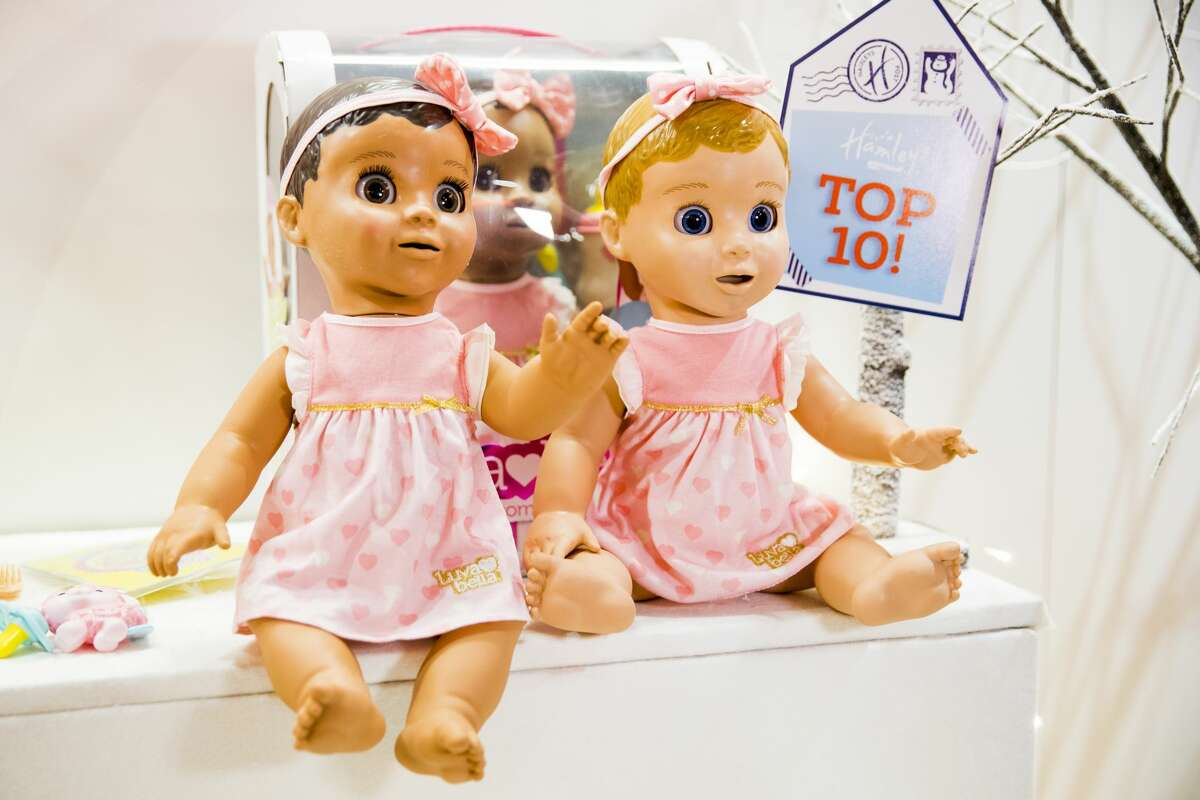 Luvabella dolls are displayed as Hamley's announce it's top ten toys for Christmas at Hamleys on October 12, 2017 in London, England.