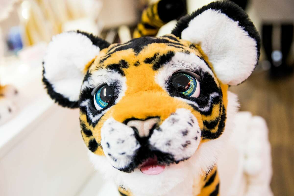 Tyler the Playful Tiger FurReal Buzz Pet is displayed as Hamley's announce its top ten toys for Christmas at Hamleys on October 12, 2017 in London, England.