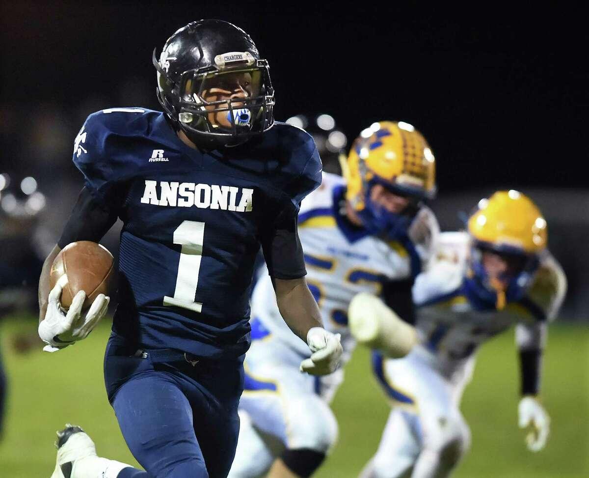 Ansonia running back Markell Dobbs.