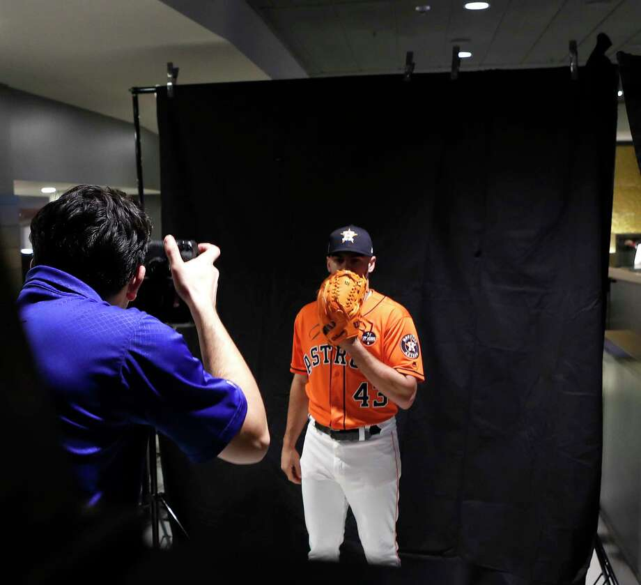 Houston Astros starting pitcher Lance McCullers, Jr., poses for photos during the World Series Media Day at Dodger Stadium, Monday, Oct. 23, 2017, in Los Angeles. Photo: Karen Warren, Houston Chronicle / @ 2017 Houston Chronicle