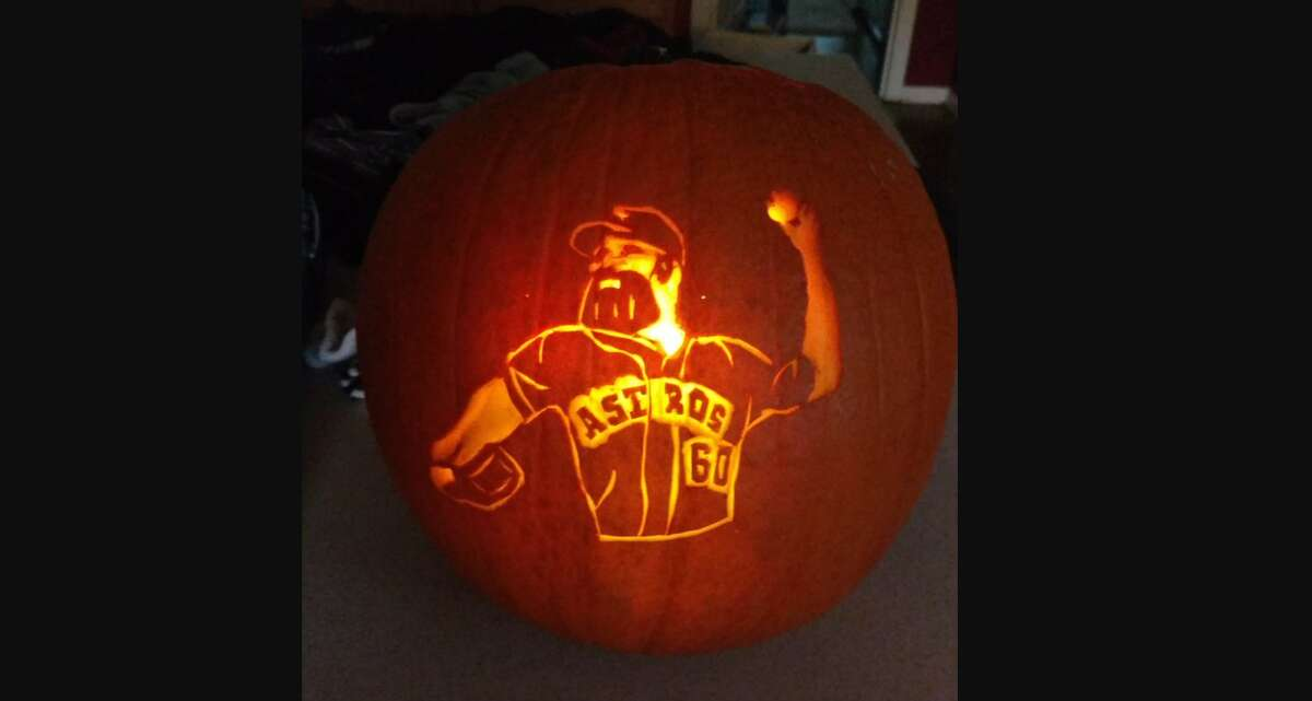 Houston native and Astros fanCorey Middleton recently shared hisJustin Verlander pumpkin on Twitter. See other pumpkins that took Halloween to the next level.