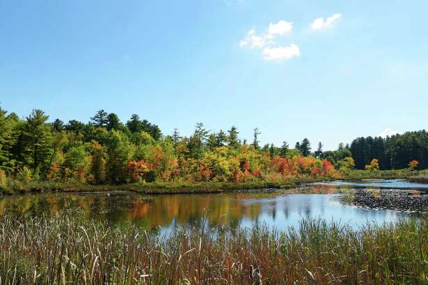 A view of fall foliage on Wednesday, Oct. 5, 2016, in Lake George, N.Y.   (Paul Buckowski / Times Union)
