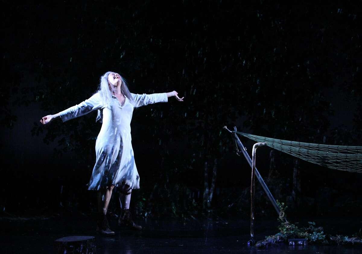 "Julia McNeal as Eva in Magic Theatre's ""The Eva Trilogy."""