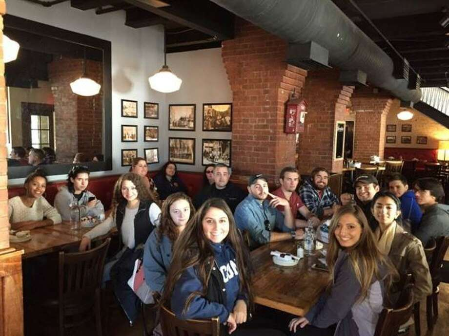 Nineteen Middlesex Community College honors program students visited Yale University in New Haven recently to explore the Ivy League school. Photo: Contributed Photo