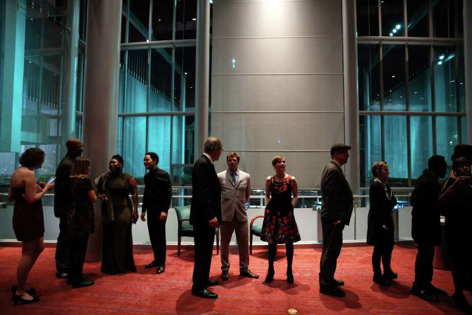 Guests mingle at the ninth annual Gregory Awards, held at Marion Oliver McCaw Hall, Monday, Oct. 23, 2017. The awards show celebrates theater arts in the Seattle area. Photo: GENNA MARTIN, SEATTLEPI / SEATTLEPI.COM