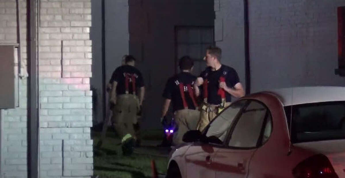 A kitchen fire scorched a north Houston apartment overnight.
