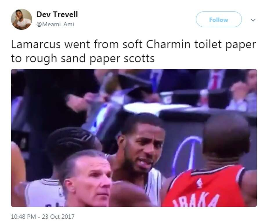 @Meami_Ami: Lamarcus went from soft Charmin toilet paper to rough sand paper scotts Photo: Twitter.com