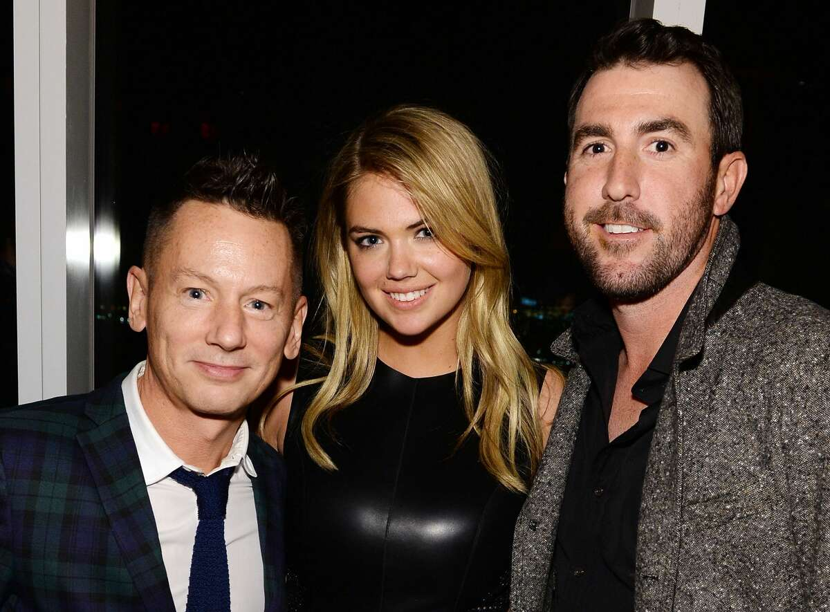 Editor-in-chief of GQ Jim Nelson, model Kate Upton, and professional baseball player Justin Verlander attend the GQ Super Bowl Party 2014 sponsored by Patron Tequila, Van Heusen, and Miller Fortune on January 31, 2014 in New York City.
