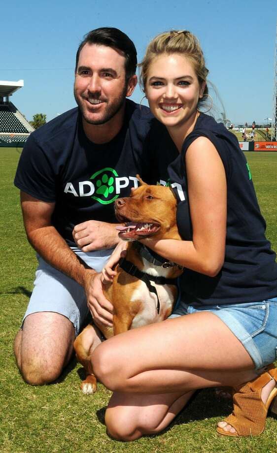Kate Upton, Justin Verlander and Wins for Warriors Foundation Host Grand Slam Adoption Event Presented by Link AKC on March 18, 2017 in Lakeland, Florida to benefit SPCA Florida and K9s For Warriors. Photo: Gerardo Mora/Getty Images For Wins For Warrio