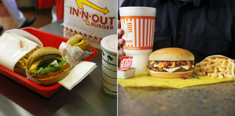 A 2019 USA TODAY Readers Choice Study declared a winner in the great Whataburger vs. In-and-Out Burger debate. Photo: William Luther / Whataburger