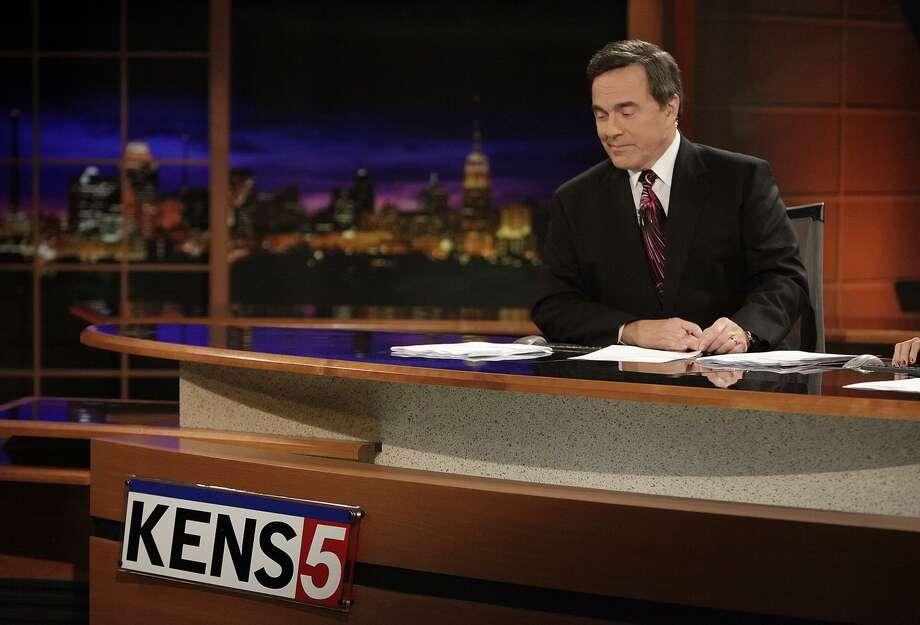 """KENS anchorman Chris Marrou as he looked on his last night anchoring the 10 p.m. news before retiring in 2009. He just announced a new role he'll play as part of the station's """"Eyewitness News."""" Photo: KIN MAN HUI /San Antonio Express-News / kmhui@express-news.net"""