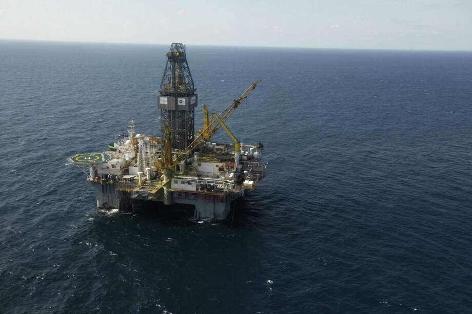 The Development Driller III, which drilled the relief well and pumped the cement to seal the Macondo well, the source of the Deepwater Horizon rig explosion and oil spill, is seen in the Gulf Of Mexico, off the coast of Louisiana, Sept. 18, 2010, on the day the cementing was completed. (AP Photo/Gerald Herbert) Photo: Gerald Herbert / AP