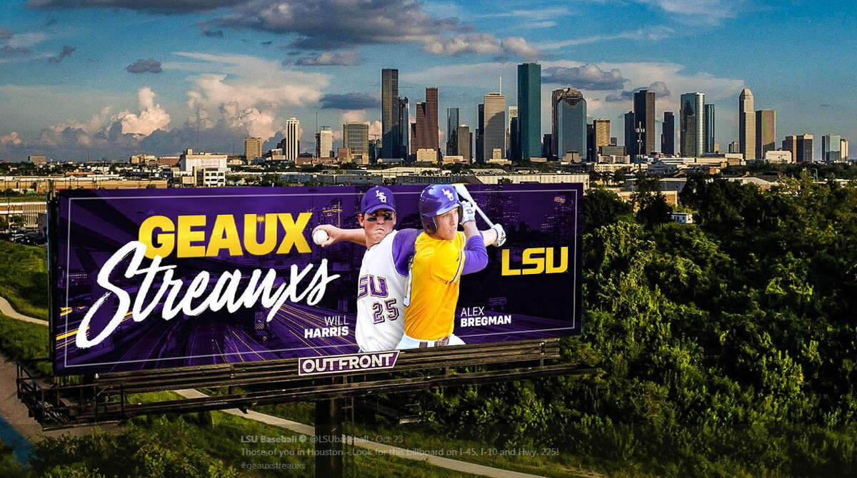 PHOTOS: A look at Alex Bregman and Will Harris this postseason The LSU baseball program put up billboards in Houston supporting the Astros and their two former players - Alex Bregman and Will Harris.