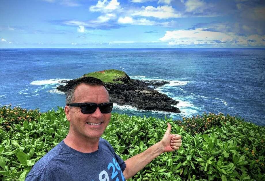 Chris McGinnis near Kilauea lighthouse in Kauai Photo: Chris McGinnis