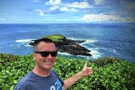 Chris McGinnis near Kilauea lighthouse in Kauai