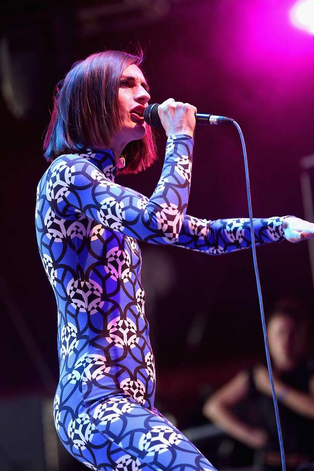 Yelle leads the band that shares her name at the 2015 Coachella festival. Photo: Karl Walter, Getty Images