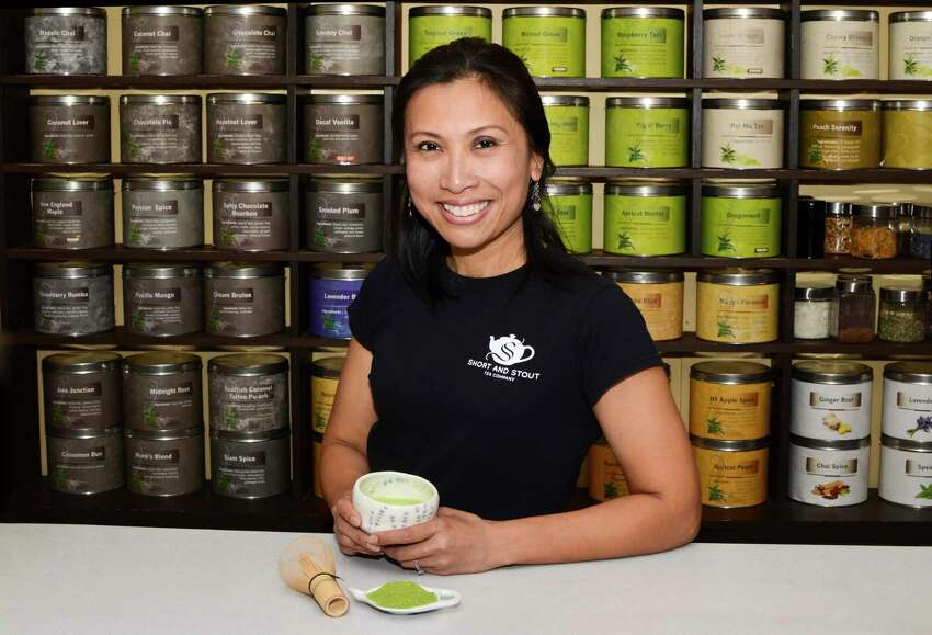 Joyce Zacharewicz, owner at Short and Stout Tea Shop & Lounge in Guilderland opened a new outlet in Crossgates Mall. (Photo by Colleen Ingerto / Times Union)