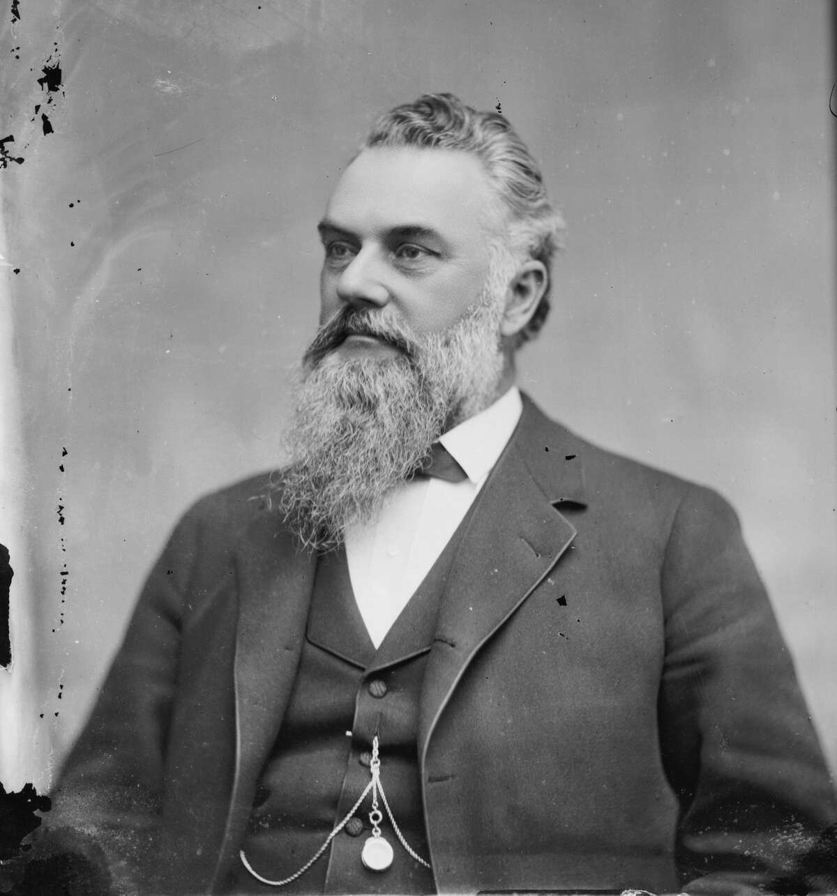 Comstock Lode millionaire and U.S. Senator James Graham Fair in a photograph taken by the studio of Mathew Brady in the late 1800s.