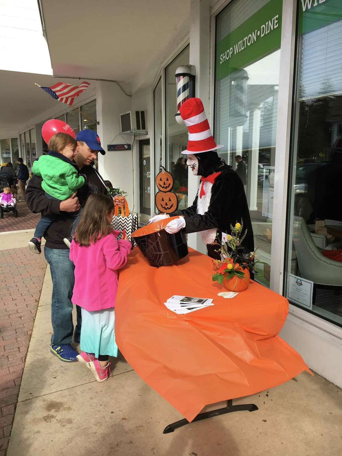 Participants from a prior HalloWeekend held by the Wilton Chamber of Commerce.