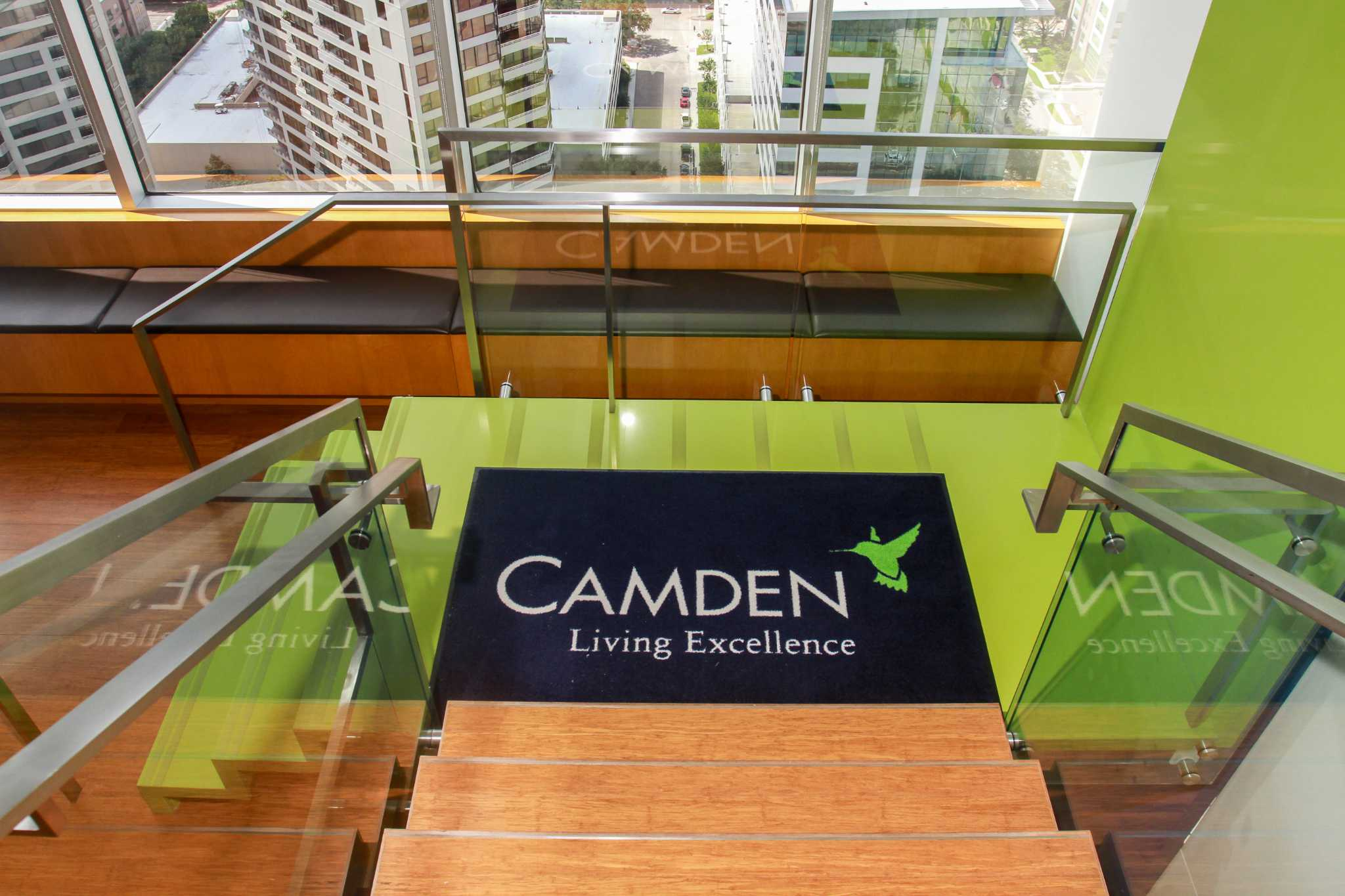 The Stairs Entering The Lobby From The Camden Cafe, At Camden Property  Trust Headquarters At