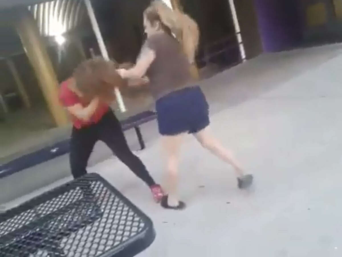 A video allegedly shows a female student at Corpus Christi's Miller High School getting beaten by a woman has gone viral.