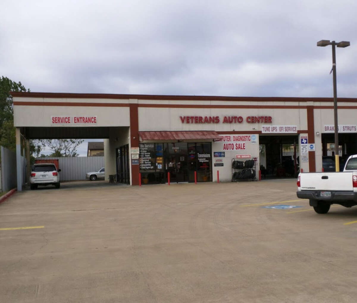 Veterans Auto Repair  Yelp rating: 5 stars  Location: 11239 Veterans Memorial Drive  Neighborhood: North Harris County